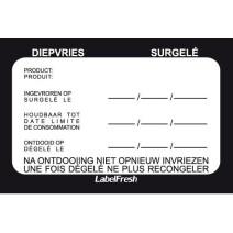 Labelfresh 500 labels 70x45mm diepvries