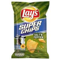 Lays Superchips Salt & Pepper 20x45gr