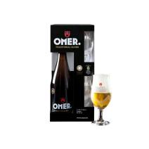 Omer Blond Beer 75cl + 2 glasses + gift pack