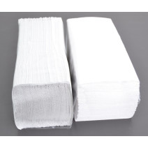 Hand Towels 2-ply natural white Cellulose zig zag folded 20.3x24cm 25x150pcs