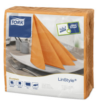 Tork Napkin Linstyle Orange 40x40cm 50pcs