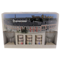 Trappist Beer Rochefort 3x33cl + 2 glasses + giftpack