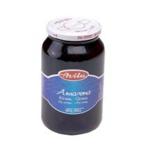 Zwarte amarenakersen op siroop 720ml Avila