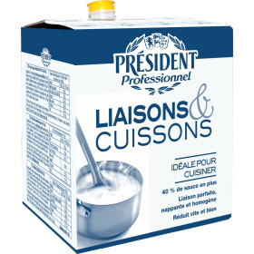 President Cream for Thickening & Cooking Professionel UHT 10L 18% Bag in Box