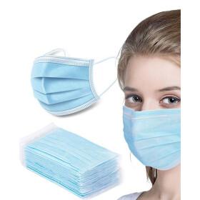 Heva Face Masks Non Woven 3ply Blue 50pcs