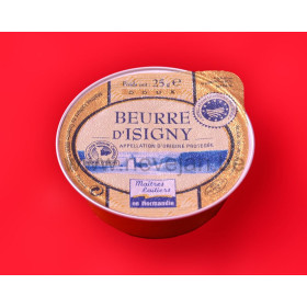 Butter individual portions Beurre D'Isigny St.Mere 48x25gr alu cup