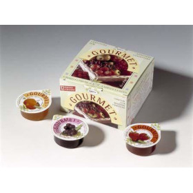 Individual Jam portions cups assorted 50% 200x15gr Gourmet