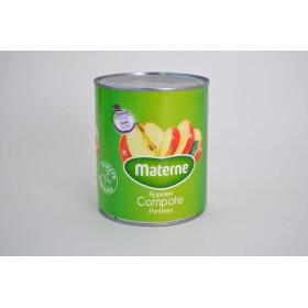 Appelcompote met stukken zonder suiker 1L Materne